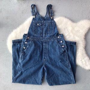 VTG 90s Gap Denim Jeans Overalls Long Maxi